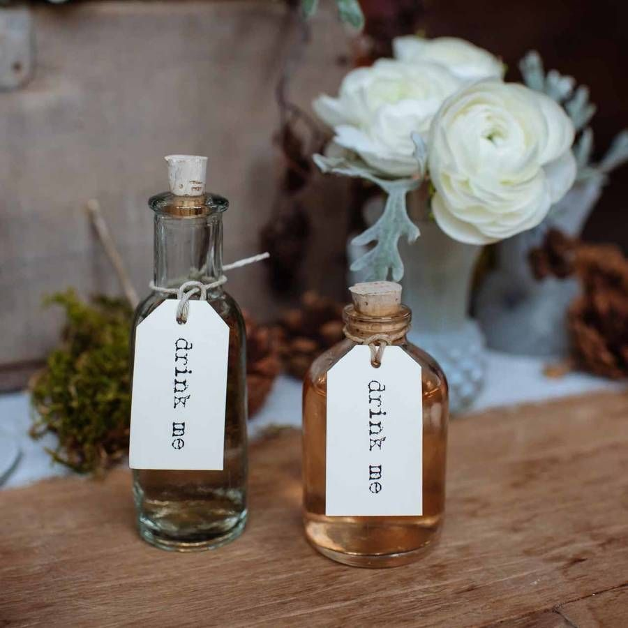 Ideas To Decorate Glass Bottles Mini Glass Bottles With Cork Stopper  Mini Bottles Favors And