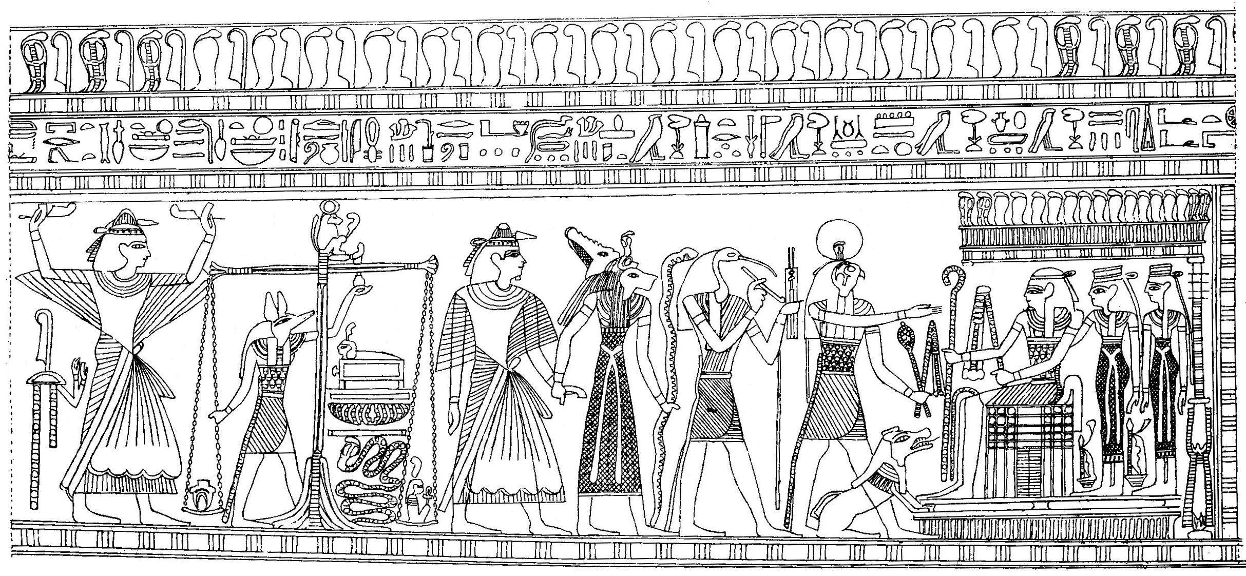 kleur nu je eigen echte egyptische muurschildering met