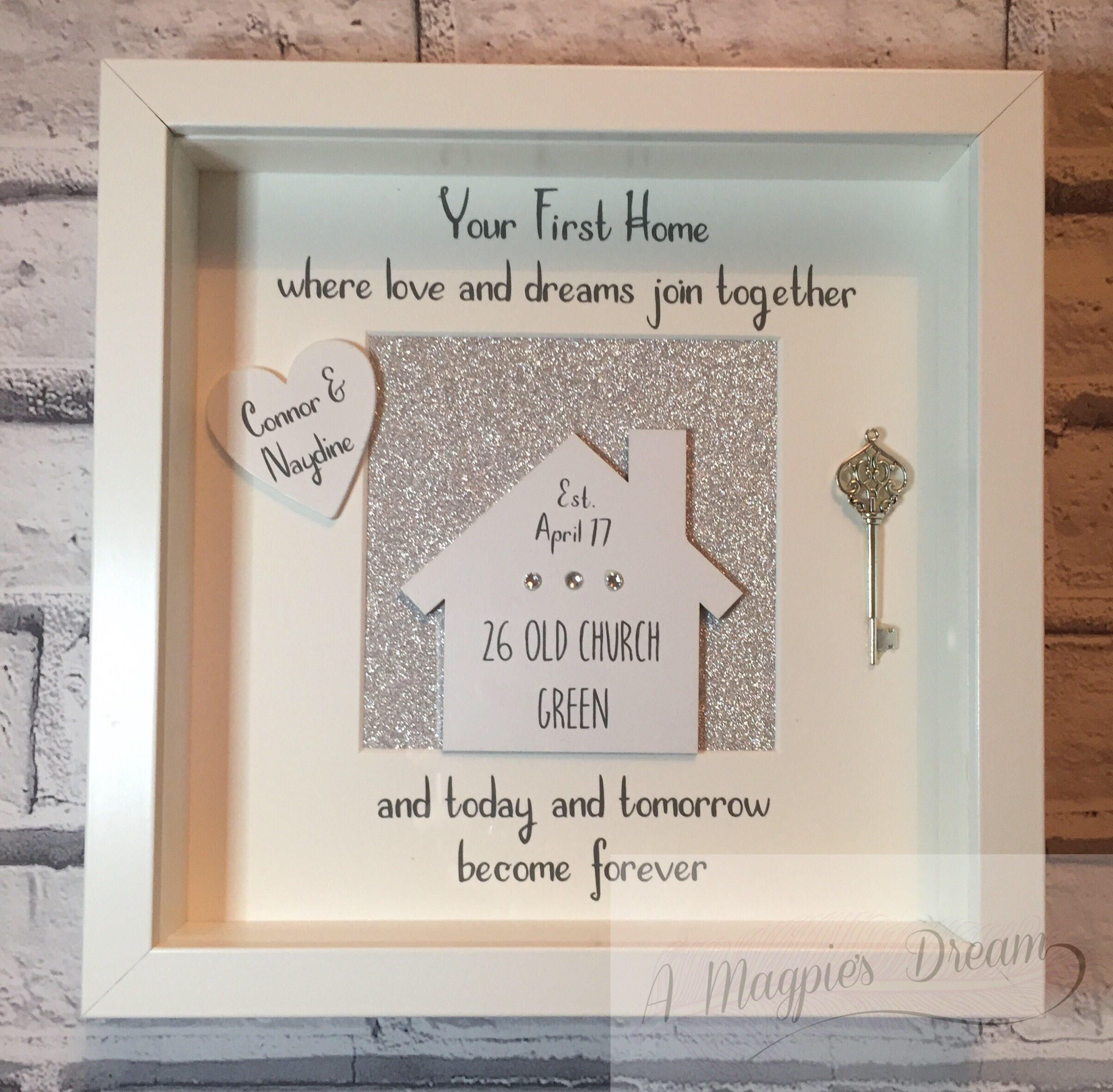 Personalised New Home Frame New Home Gift Moving In Present First Home First Home Gifts New Home Presents New Home Gifts