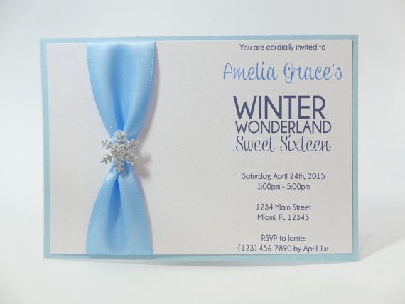 Winter Wonderland Invitation  Winter by MemorableImprints on Etsy