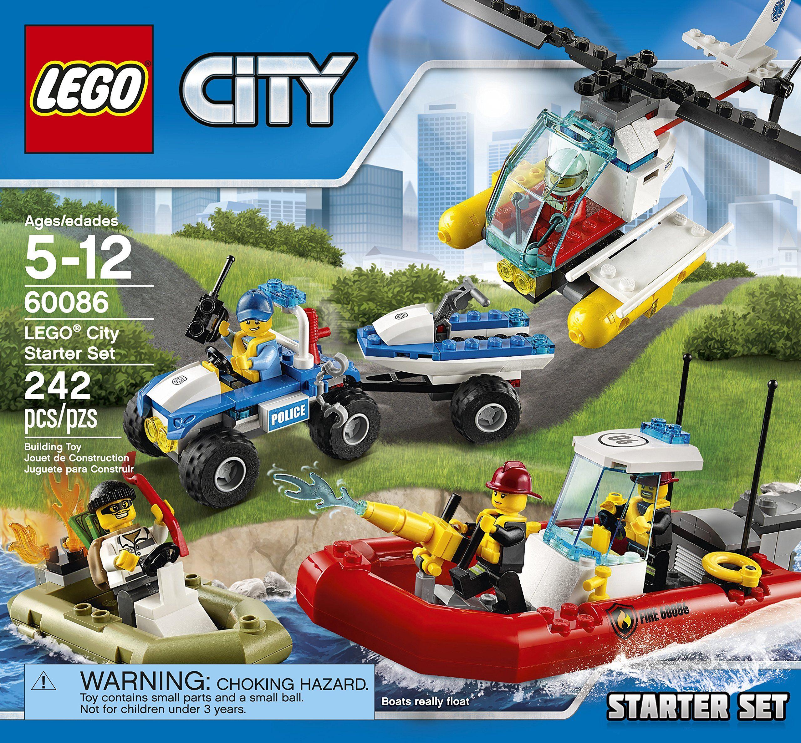 Amazon Com Lego City Town Starter Set Toys Games Lego City Lego City Sets Lego