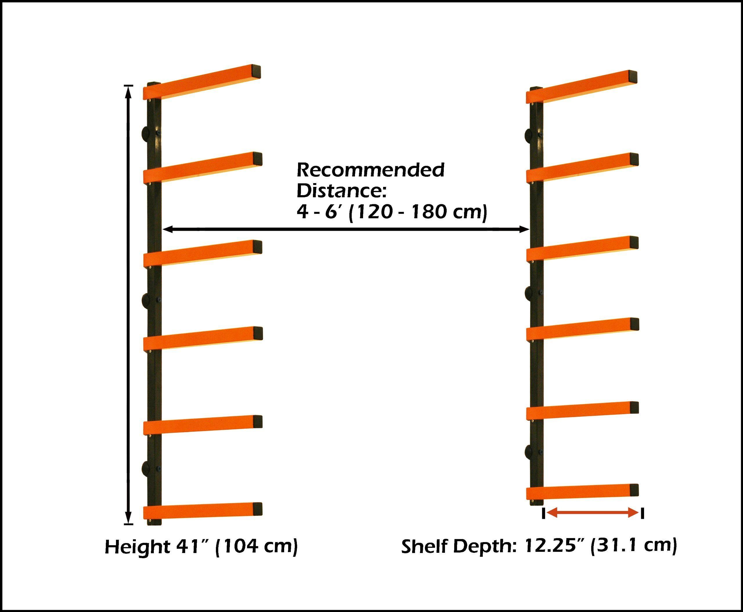 Lumber Storage Rack Portamate PBR 001 Six Level Wall Mount Wood Organizer