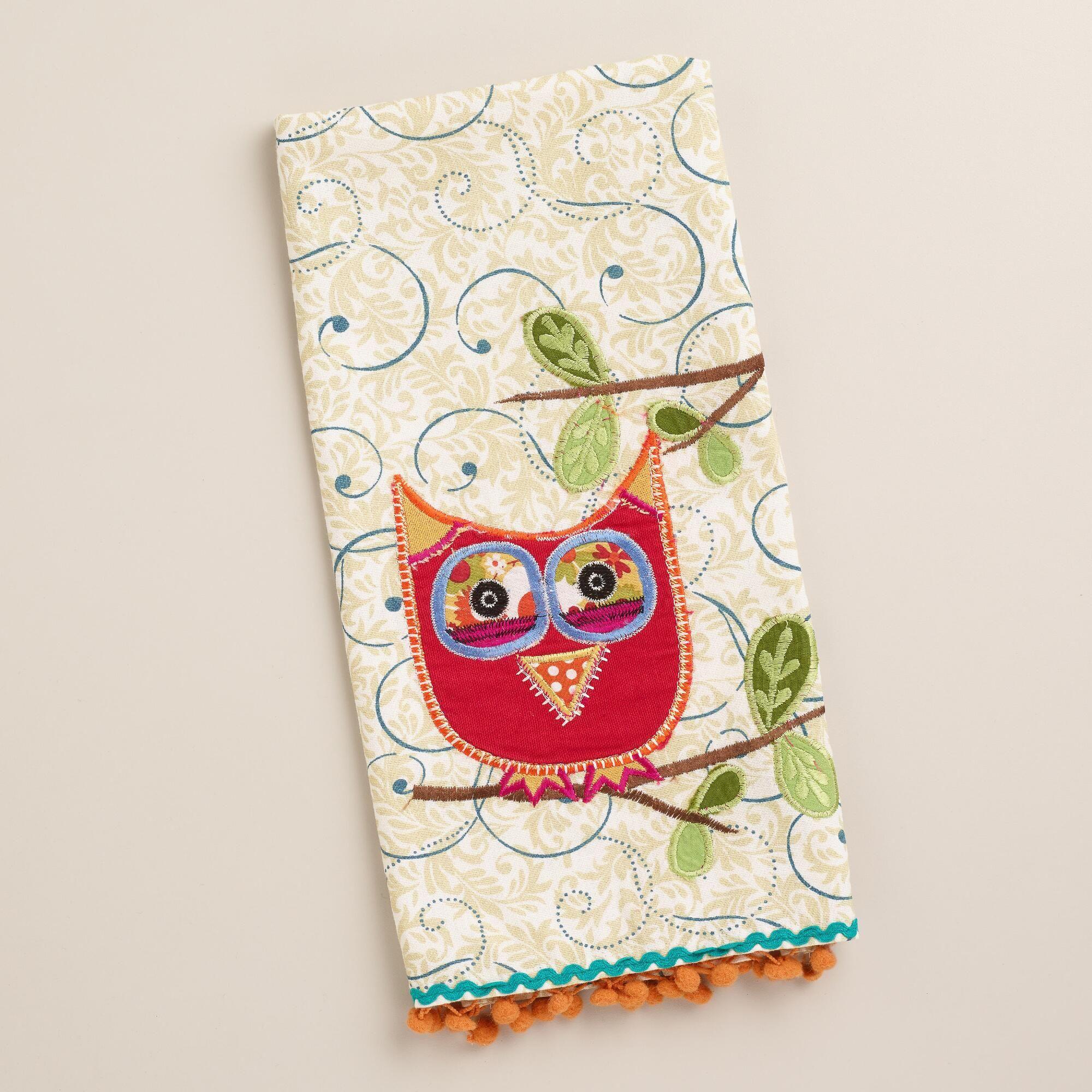 A fun way to enjoy teatime, our exclusive Owl Decorative Tea Towel ...