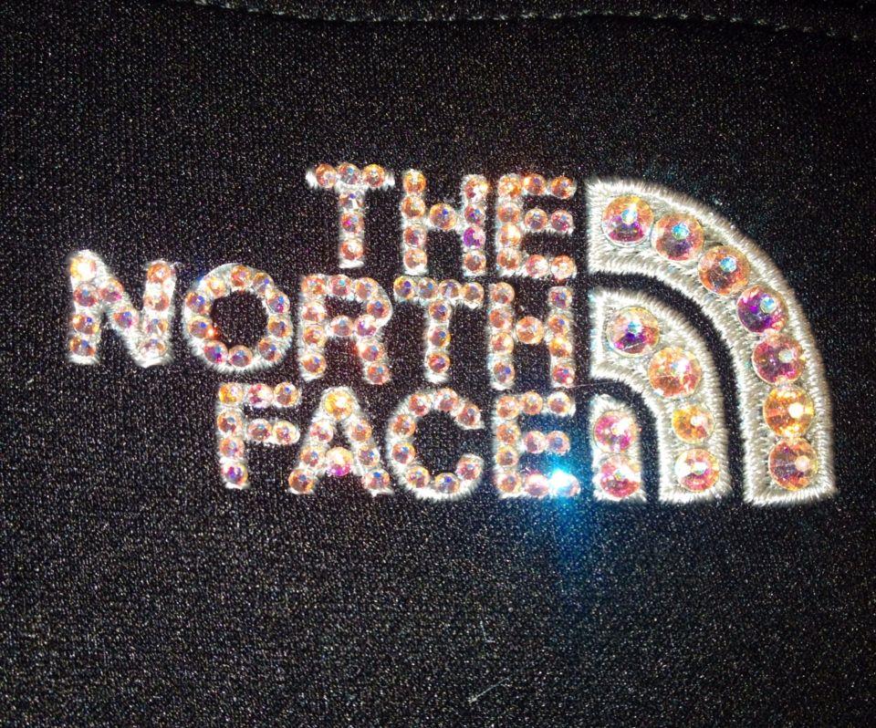 Crystal ab north face jacket!