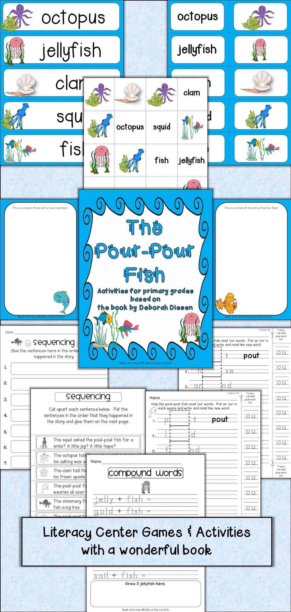 Book Unit Activities with The Pout-Pout Fish Retelling, Rhyming and ...