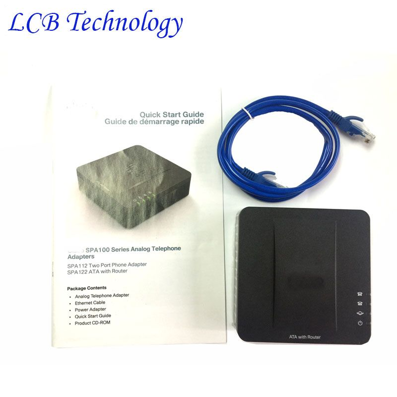 Unlocked New Linksys SPA122 FXS Lan WLAN ATA Voip Phone Voice Adapter SIP Voip Phone Machine Free Shipping