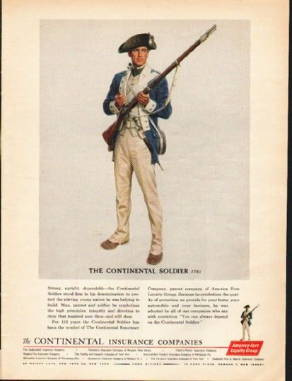1962 America Fore Loyalty Group Vintage Ad The Continental