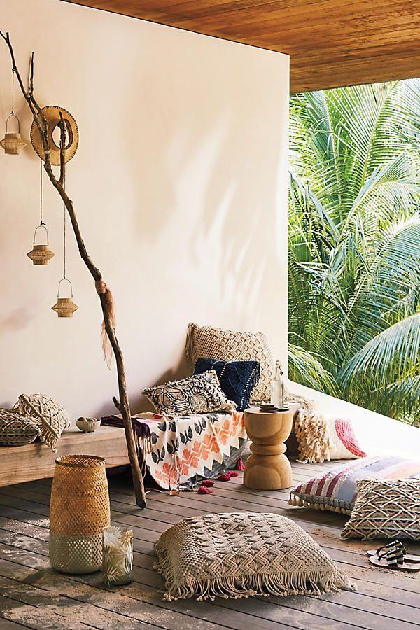 Fringed Diendra Floor Pillow Living Room Decorating Ideas Amazing Floor Pillow Decorating Ideas