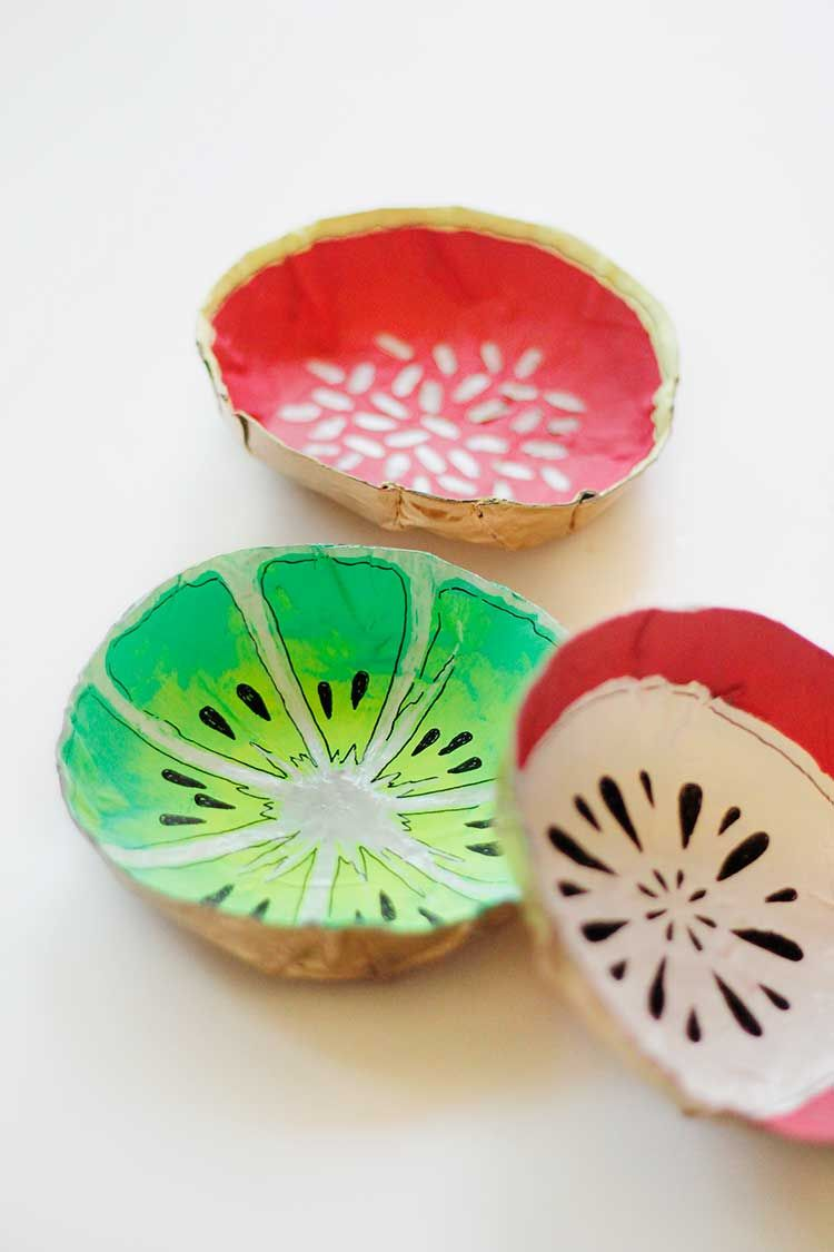 Simple DIY Fruit Bowls | Paper mache, Bowls and Easy