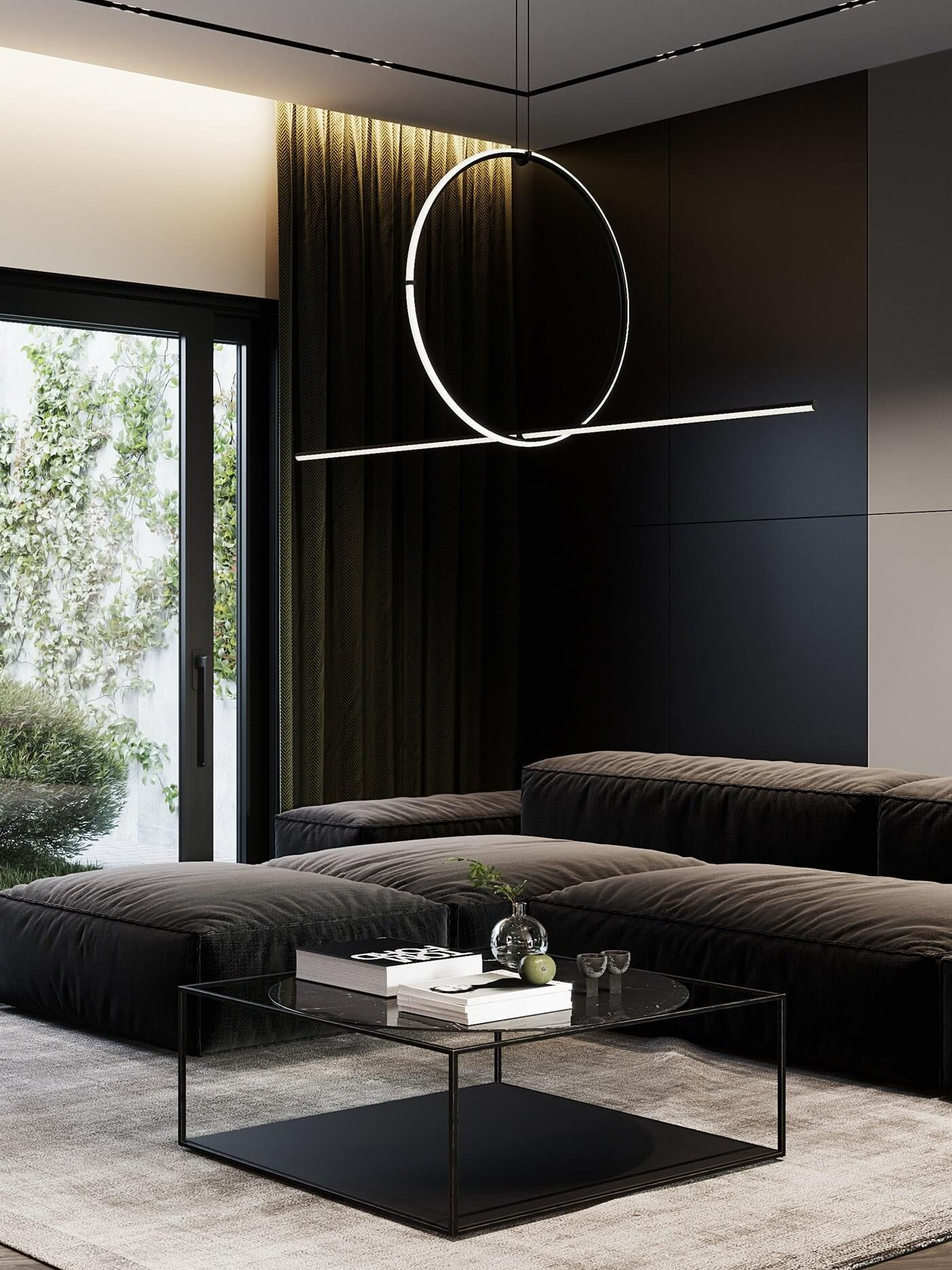 Autodesk Room Design: Dark Living Apartment // Cgi Visualization