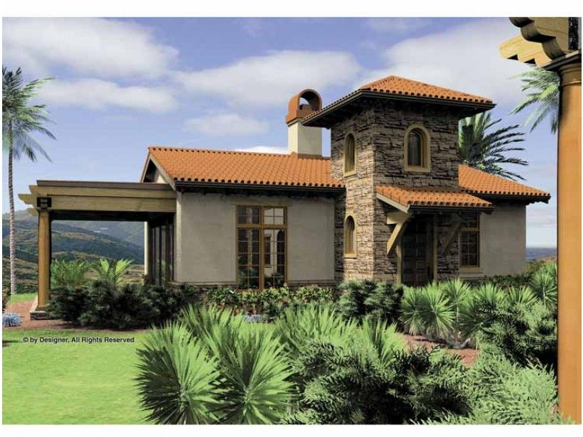 eplans mediterranean house plan one bedroom mediterranean 972 square feet and 1 bedroom from. beautiful ideas. Home Design Ideas