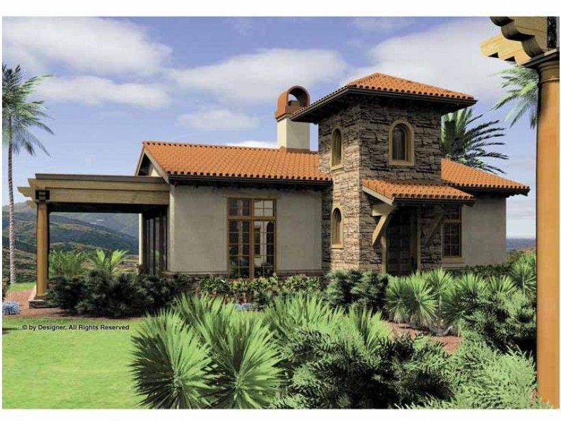 eplans mediterranean house plan - one bedroom mediterranean - 972