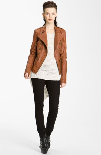For Fall...  Rachel Zoe 'James' Leather Military Jacket   Nordstrom