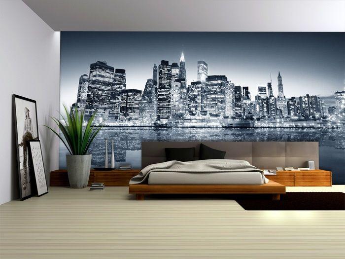 Impresion En Tela Foto Mural Par La Habitacion Segun Tu Estilo Home Wallpaper Wall Design House Styles