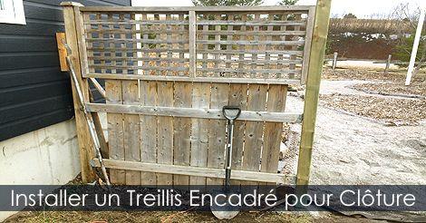 Installer #treillis clôture   Clôture de Jardin - Étapes de ...
