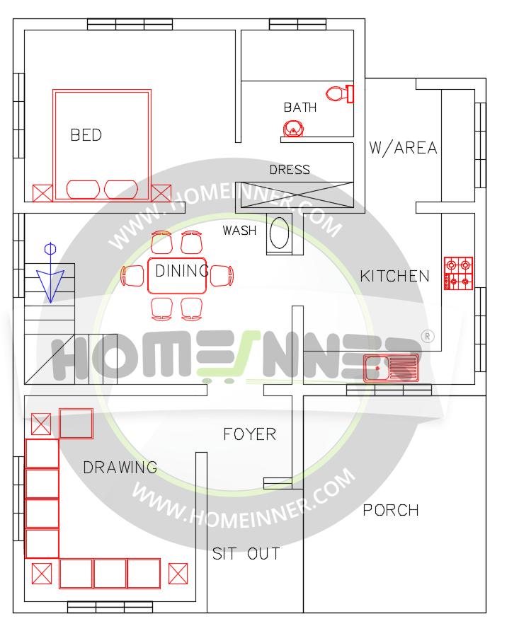 Free indian house plan sq ft bedroom bath modern also rh pinterest