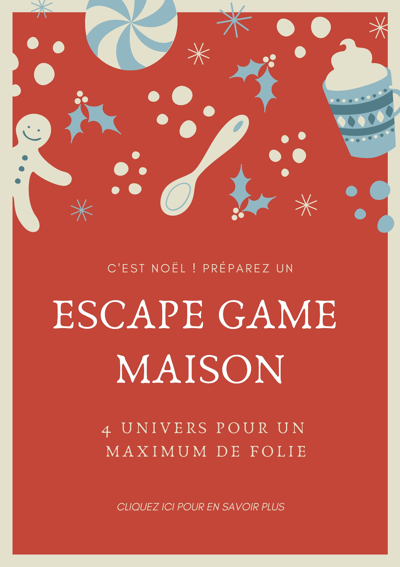 Idée De Jeux En Famille Pour Noel c'est noël ! #escapekit #kit #jeu #printable #printandplay