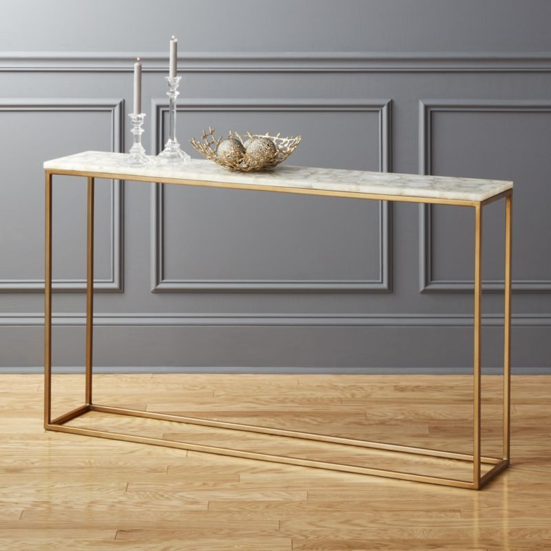 Iris White Agate Console Table Reviews Marble Console Table