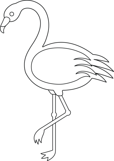 Colorable Flamingo Free Clip Art Flamingo Coloring Page Flamingo Craft Flamingo Art