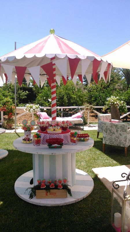 Ideas para decorar una mesa de dulces Party Pinterest Mesa de