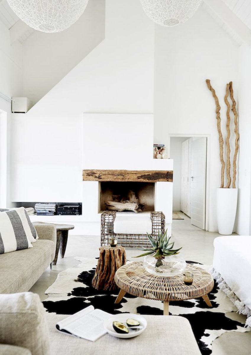 60+ scandinavian fireplace ideas for your living room (63 ...