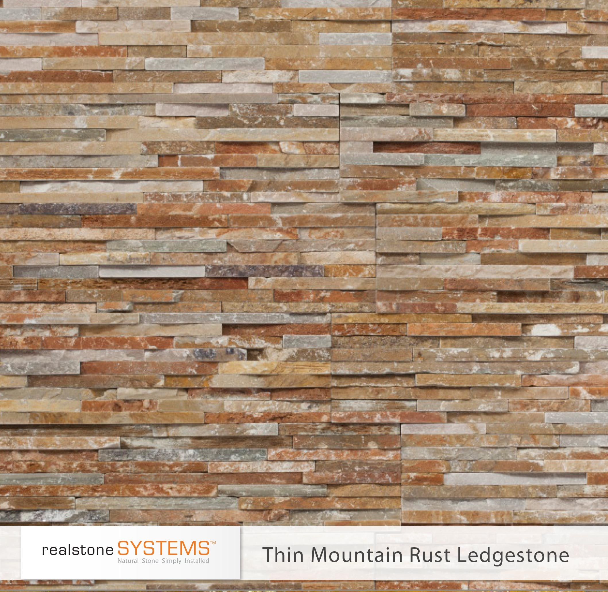 Thin Mountain Rust Ledgestone, Thinstone Veneers from Realstone ...
