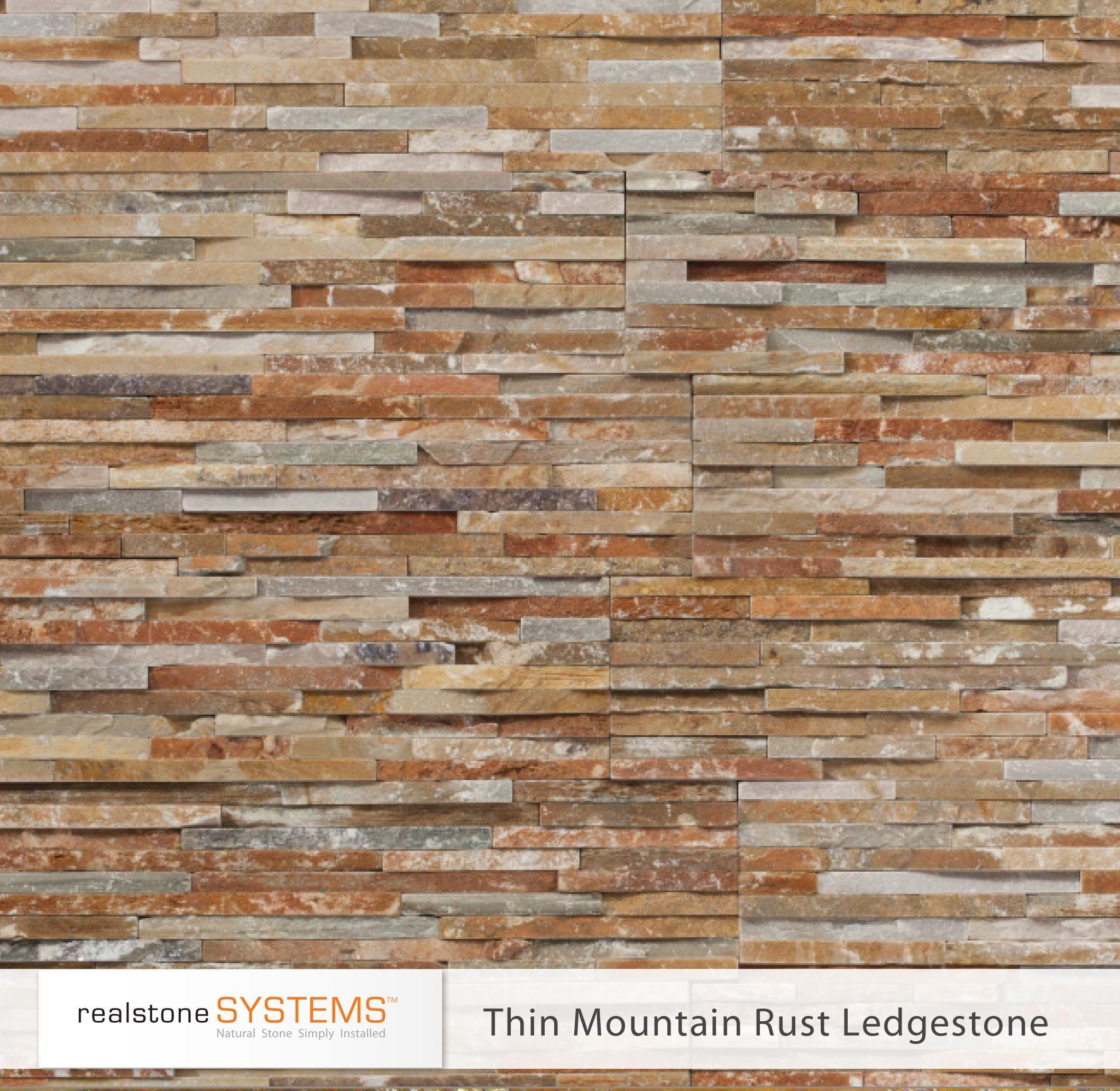 Thin Mountain Rust Ledgestone Thinstone Veneers from Realstone