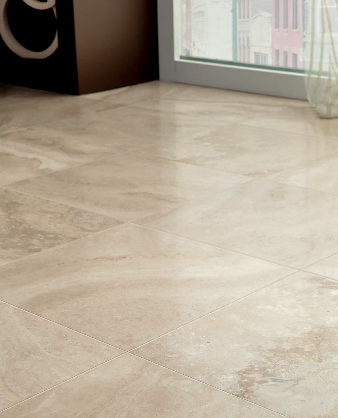 Caraculla collection floors avorio colour marble look - Marble look bathroom floor tiles ...