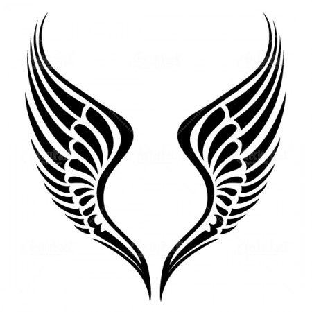 free tribal wing vector stock vectors jpg 450 450 tattoo ideas rh pinterest com wind vectors map wings vector free