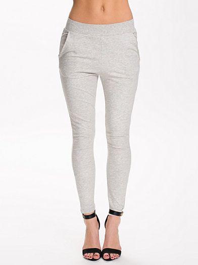 Sunrise Sweat Pants - Jacqueline De Yong - Light Grey Melange - Byxor &  Shorts -