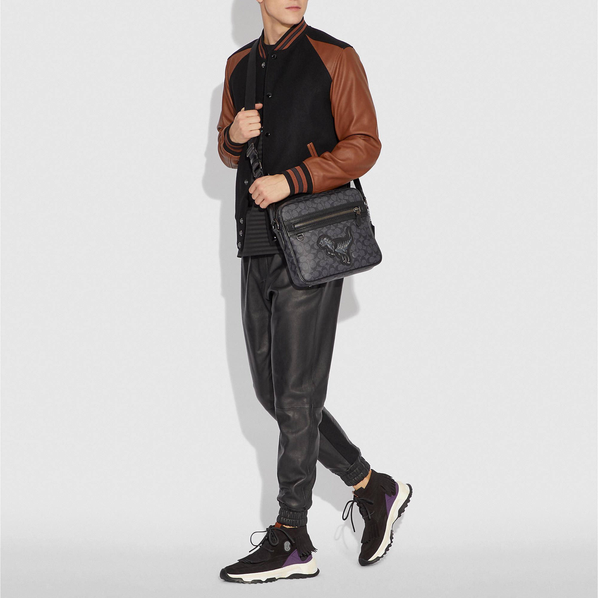 636186b79 COACH Men's Dylan 27 In Signature Canvas With Rexy Messenger Bags ...