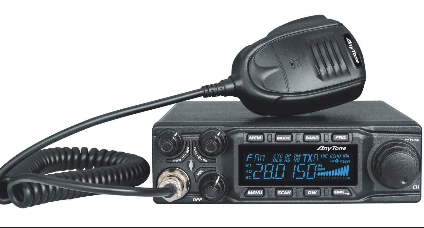 AnyTone AT-6666 CB Mobile Radio/Transceiver 10 Meter Radio