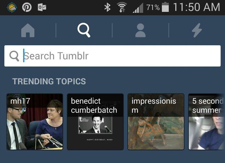 He is also trending on tumblr!  #HappyBirthdayBenedictCumberbatch