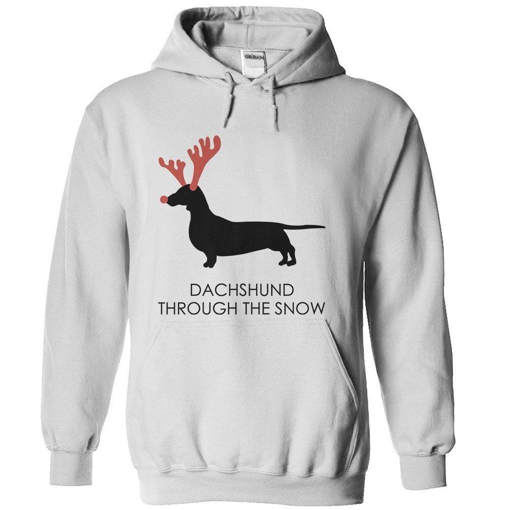 Dachshund snow tshirt hoodies fishing t shirts
