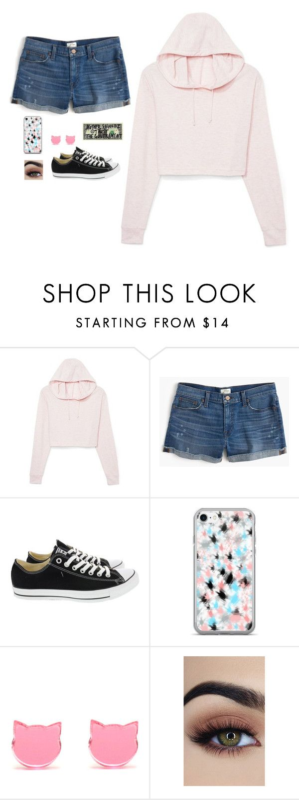 """Untitled #4206"" by if-i-were-famous1 ❤ liked on Polyvore featuring J.Crew and Converse"