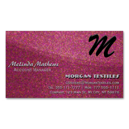 Red Elegance Monogram Business Card Template. Stand out from the rest of the competition with the beautiful glitter look business card. The card contains no glitter, it's just the artwork than makes it look glittery. Put some sparkle in your life.