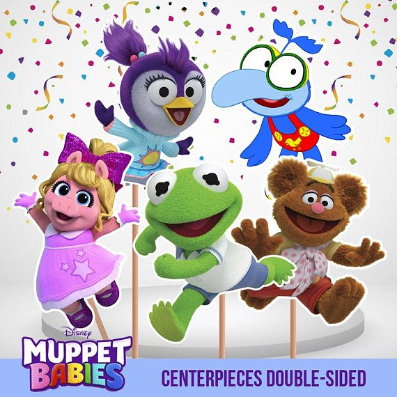 Muppet Babies Centerpieces Double Sided 5 Centerpieces