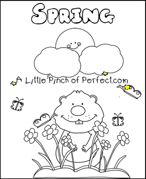 a little pinch of perfect groundhog day free printables coloring pages - Groundhog Coloring Pages Print