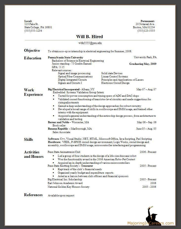 Sample Resume Formats  Cover Letter Resume Samples And The Best