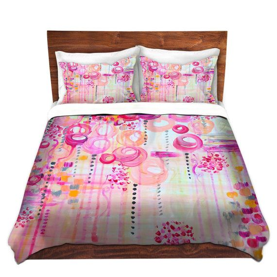 Girly Bedroom Items: COLORFUL Fine Art Duvet Covers, Bubblegum Pop Pretty Pink