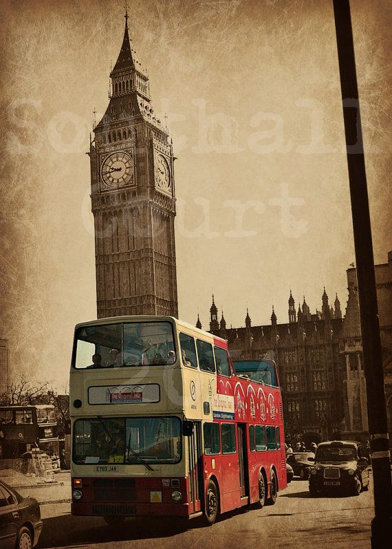LONDON CITY RED BUS /& BIG BEN POSTER Wall Art Photo Print Pic Poster A3 A4