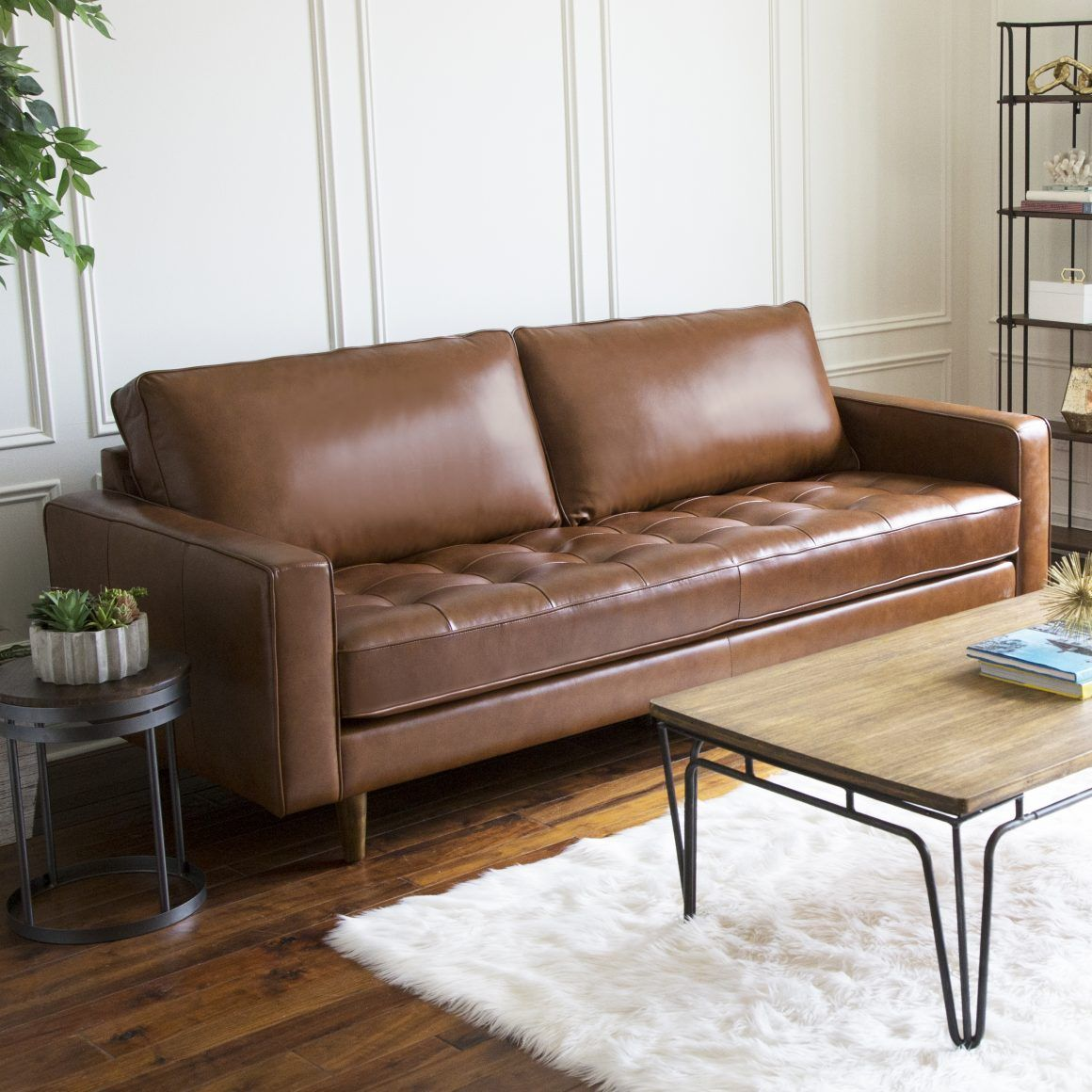 9 Affordable Leather Couches For 2020 With Free Shipping In 2020 Top Grain Leather Sofa Leather Sofa Top Grain Leather