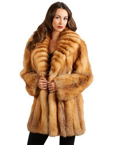 The Vanessa Red Fox Fur Stroller  Kožešinové Kabáty b9a482d2d1