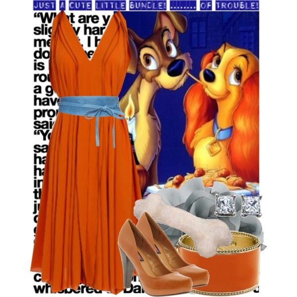 611. 10/50 Disney challenge (Lady and the tramp), created by chloe on Polyvore
