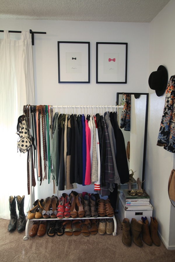 Genial How To Organize U0026 Style Your Closet: Utilize A Rolling Rack For Extra  Closet Space.