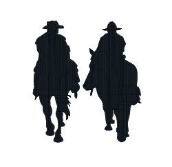 BUY 2,GET 1 FREE - Cowboy Silhouette Machine Embroidery ...