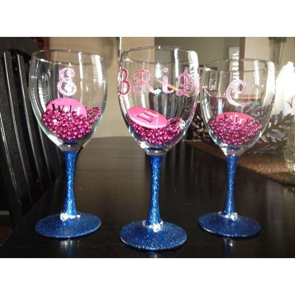 wine glass wedding wine glass bachelorette glasses wedding glasses glitter wine glass holiday drinks party glasses