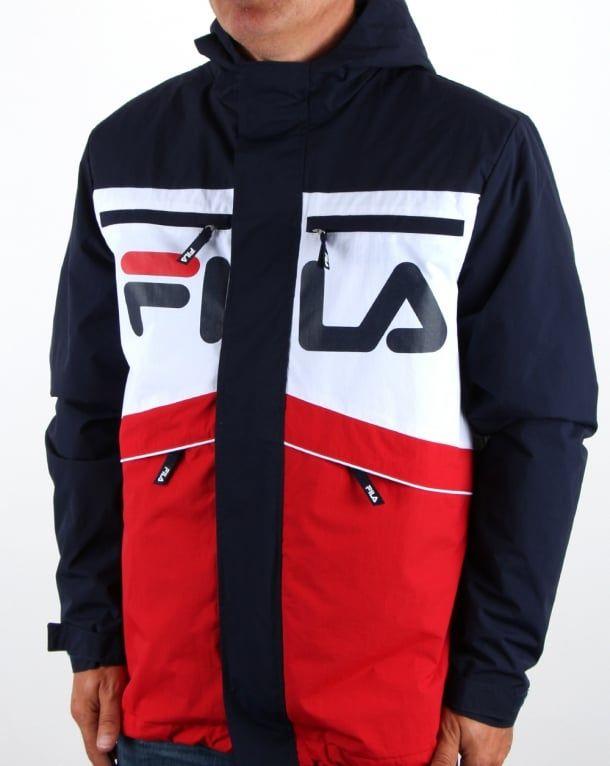 Fila Vintage Linden Jacket Navy | Fila vintage, Jackets