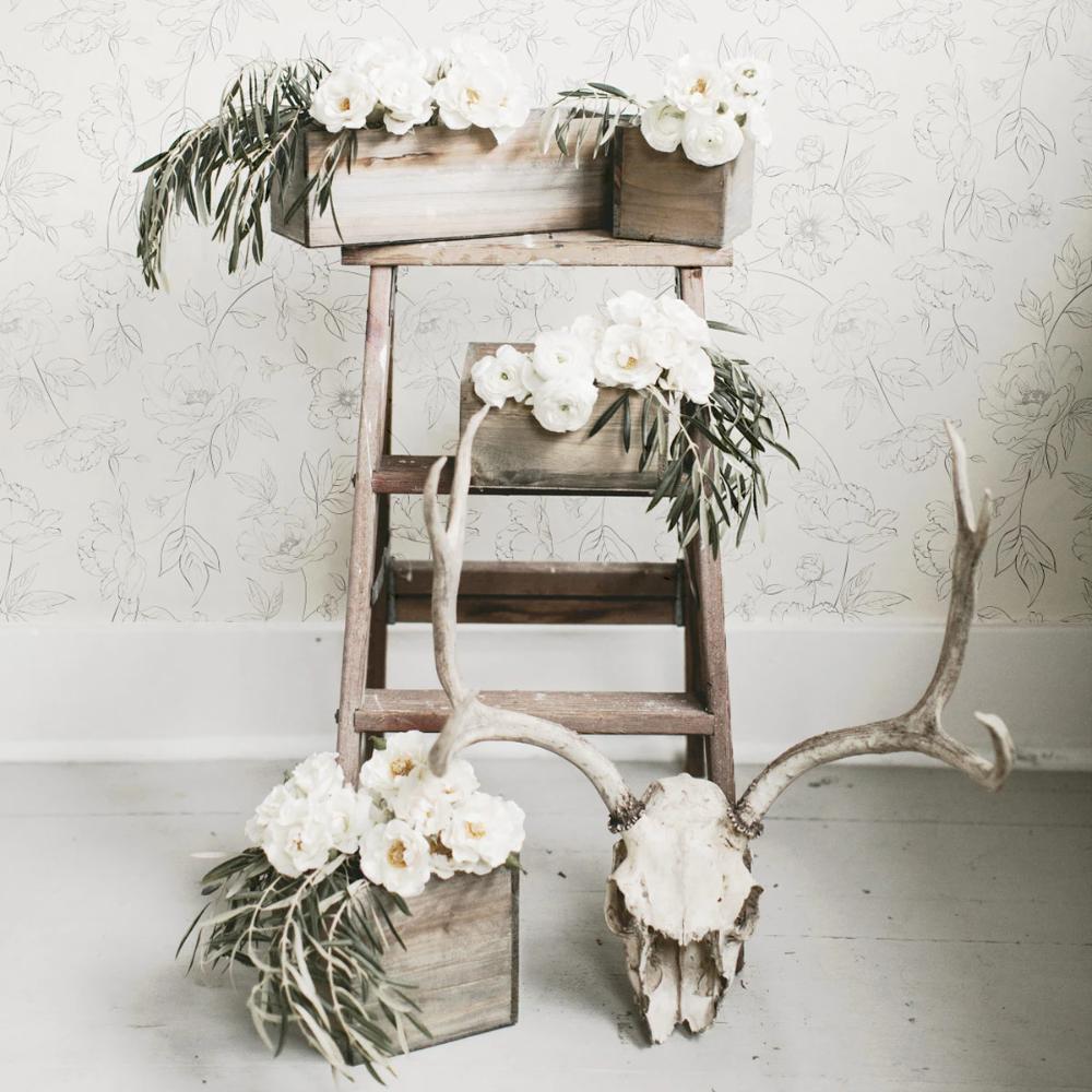 Subtle Floral Removable Wallpaper Removable Wallpaper Floral Wallpaper Flower Lights