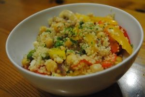 Chickpea and Veggie Couscous with Toasted Cashews - Dinner